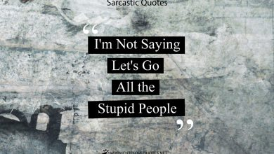 Photo of Best Sarcastic Quotes And Funny Sarcasm Sayings